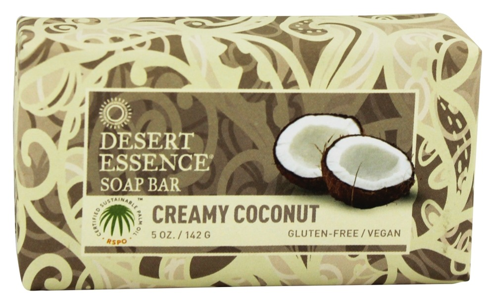 Desert Essence - Soap Bar Creamy Coconut - 5 oz. LUCKY PRICE