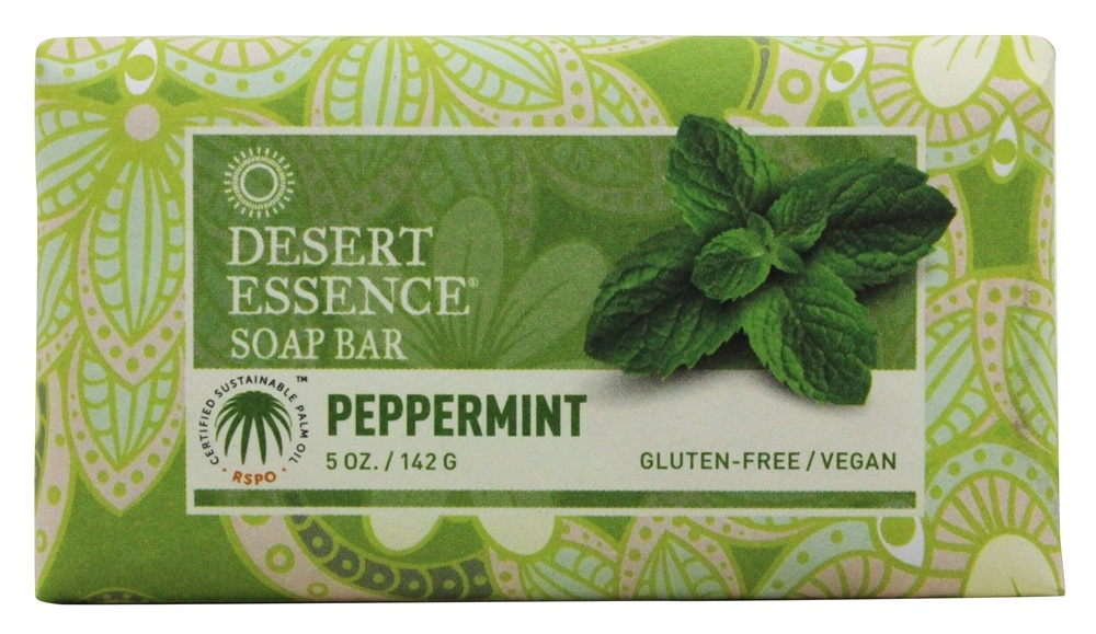 Desert Essence - Soap Bar Peppermint - 5 oz. LUCKY PRICE