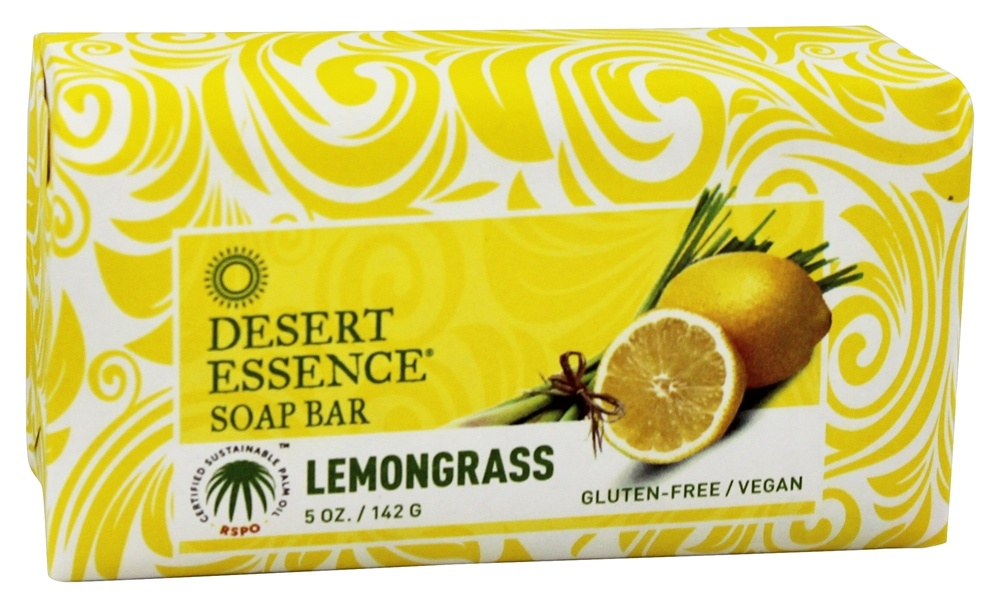 Desert Essence - Soap Bar Lemongrass - 5 oz. LUCKY PRICE