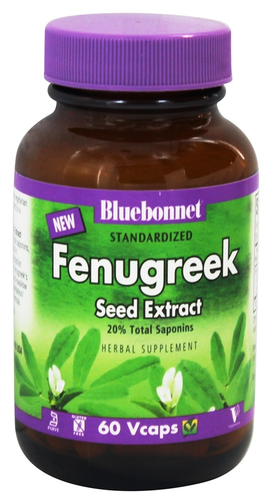 Bluebonnet Nutrition - Standardized Fenugreek Seed Extract 600 mg. - 60 Vegetarian Capsules