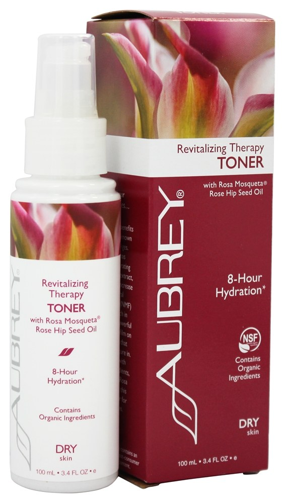 Aubrey Organics - Revitalizing Therapy Toner with Rosa Mosqueta Rose Hip Seed Oil - 3.4 oz.