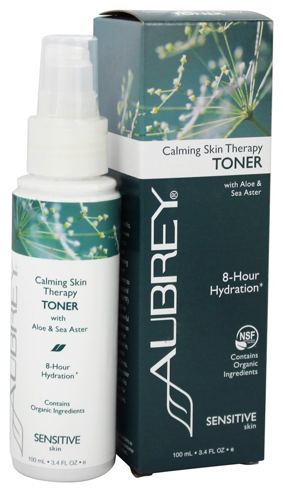 Aubrey Organics - Calming Skin Therapy Toner with Aloe & Sea Aster - 3.4 oz. (Formerly Vegecol Alcohol-Free Facial Toner)