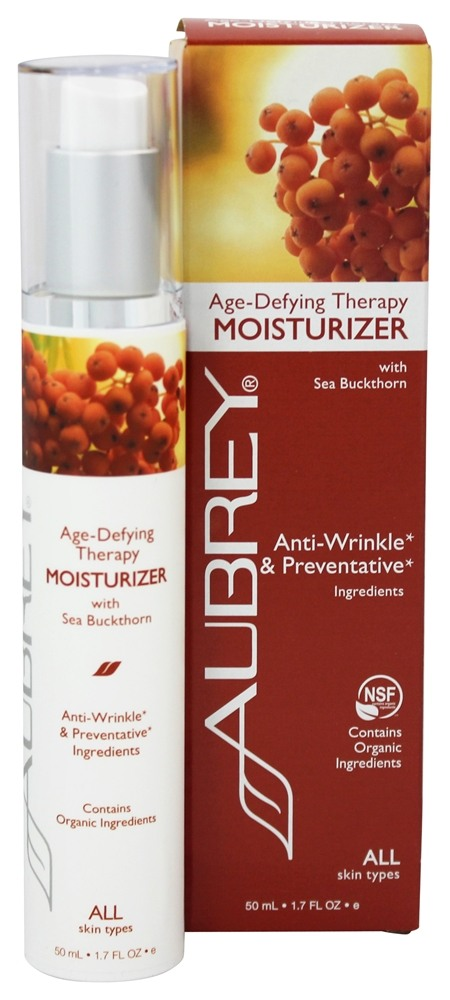 Aubrey Organics - Age-Defying Therapy Moisturizer with Sea Buckthorn - 1.7 oz. (Formerly Sea Buckthorn Moisturizing Cream)