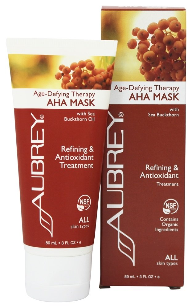 Aubrey Organics - Age-Defying Therapy AHA Mask with Sea Buckthorn - 3 oz. (Formerly Green Tea Rejuvenating Mask)