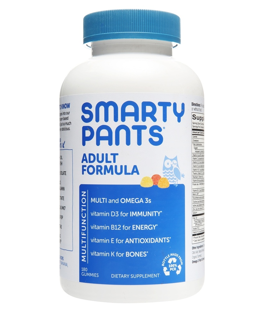 SmartyPants - All-in-One Multivitamin + Omega 3 + Vitamin D For Adults - 180 Gummies