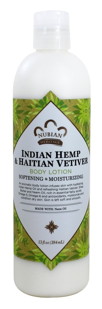 Nubian Heritage - Lotion Hemp and Haitian Vetiver - 13 oz.