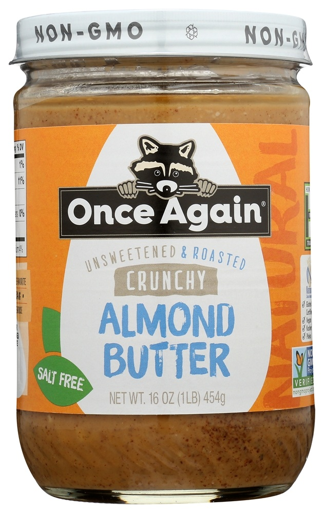 Once Again - Natural Almond Butter Crunchy - 16 oz.
