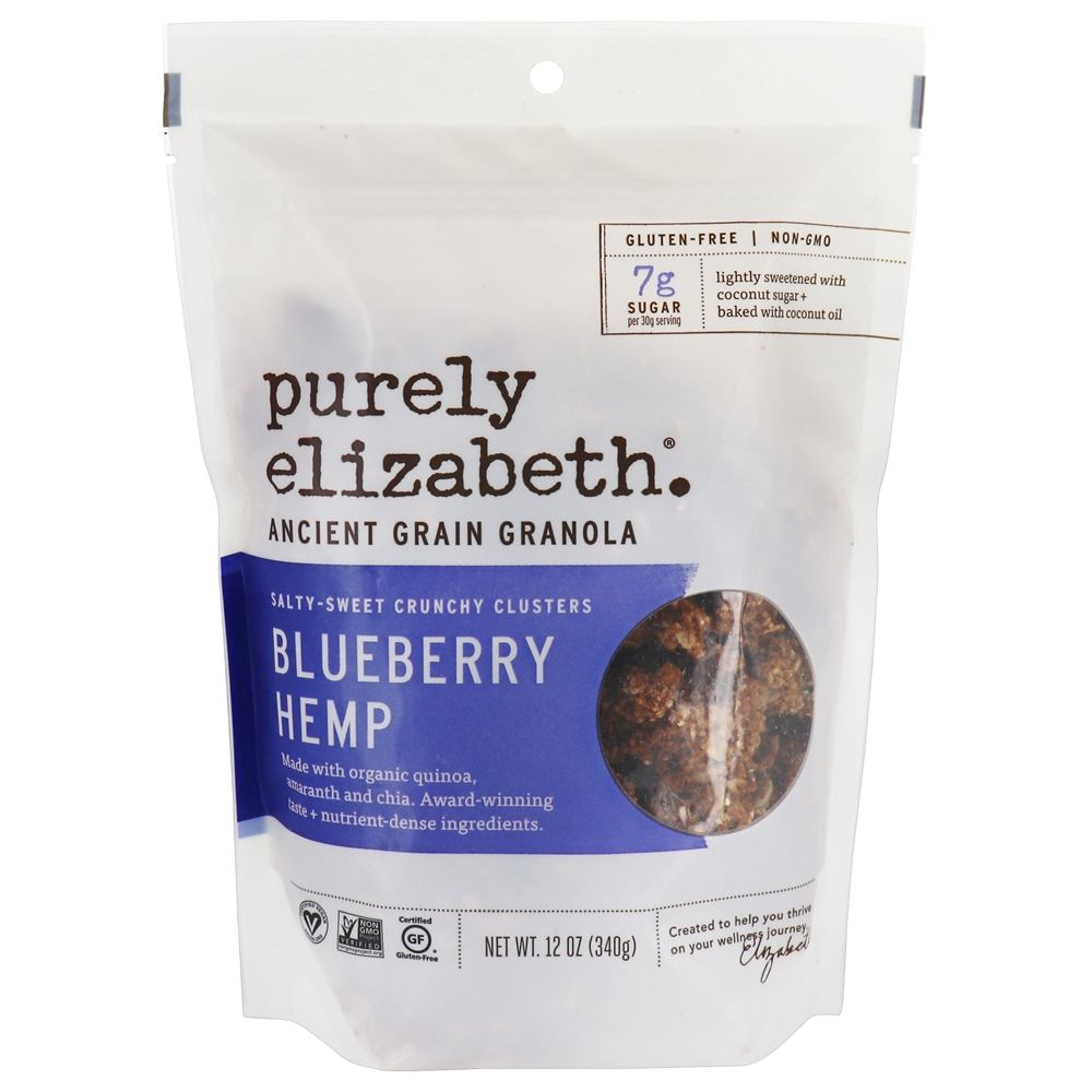 Purely Elizabeth - Ancient Grain Granola Cereal Blueberry Hemp - 12 oz.