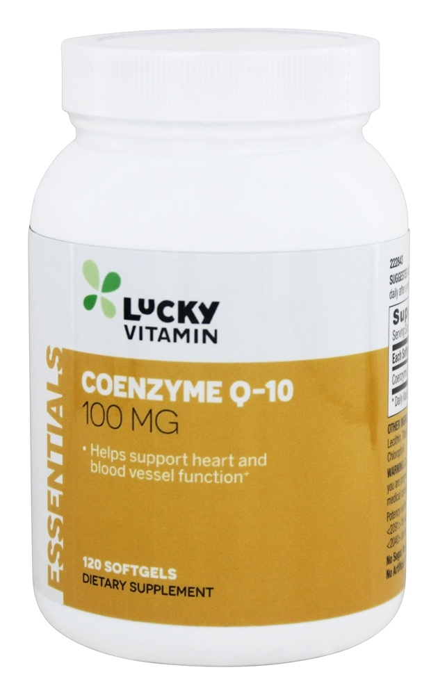 LuckyVitamin - Coenzyme Q-10 100 mg. - 120 Softgels