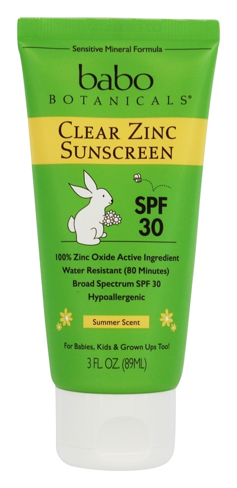 Babo Botanicals - Clear Zinc Sunscreen Face & Body For Sensitive Skin 30 SPF - 3 oz.