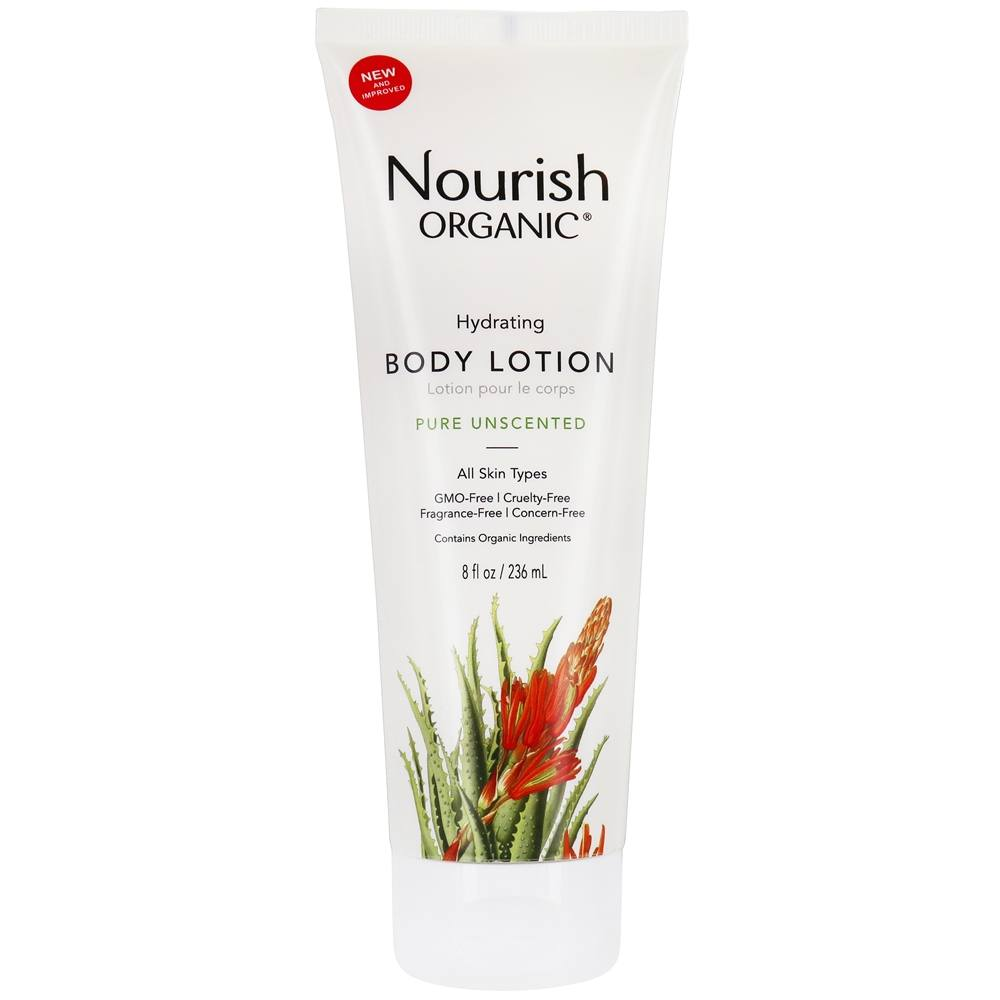 Nourish - Organic Body Lotion Pure Unscented - 8 oz.