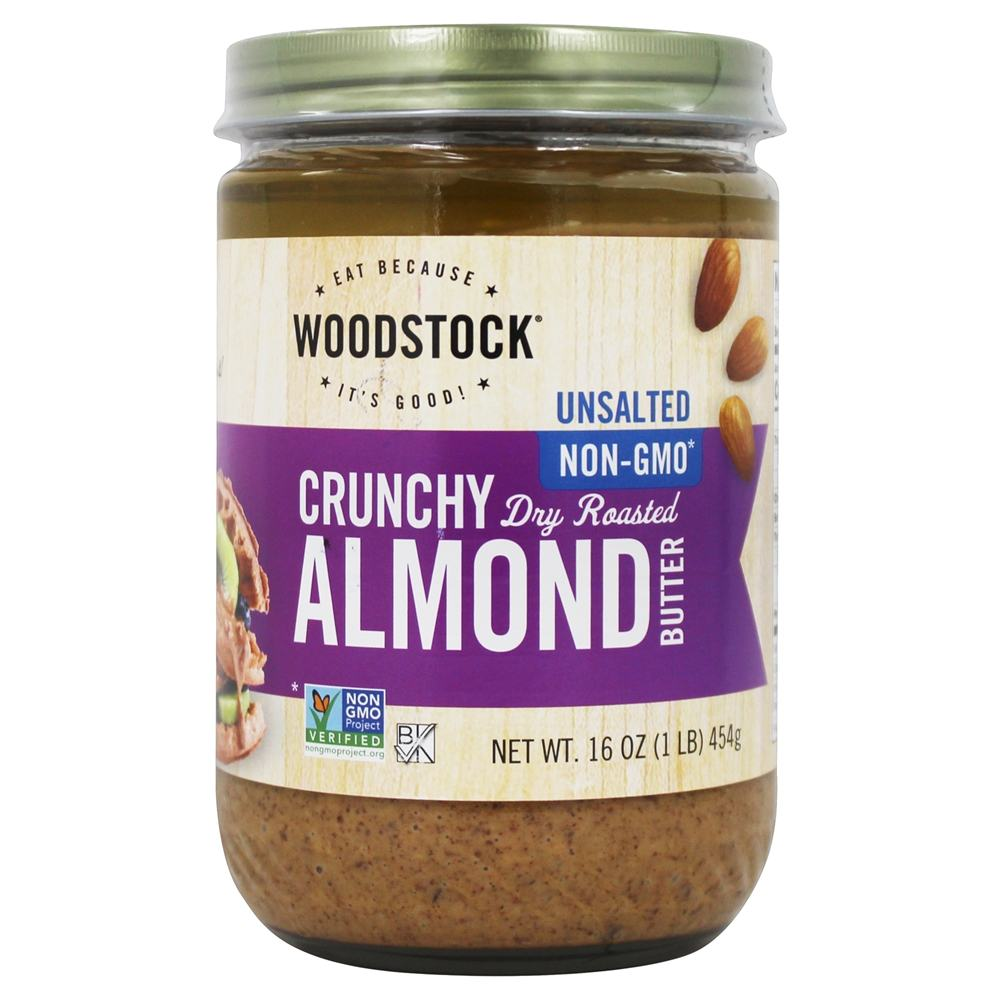Woodstock Farms - All-Natural Almond Butter Crunchy Unsalted - 16 oz.