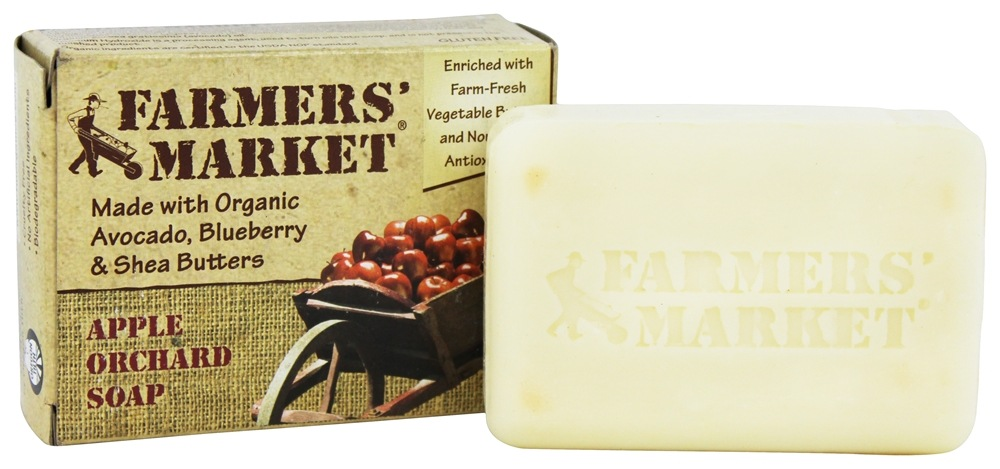 Farmers' Market - Organic Bar Soap Apple Orchard - 5.5 oz.