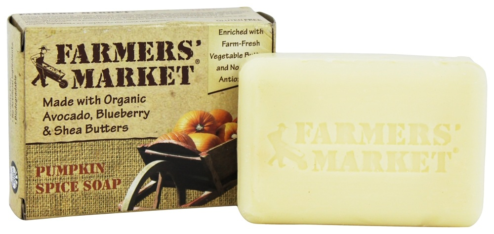 Farmers' Market - Organic Bar Soap Pumpkin Spice - 5.5 oz.