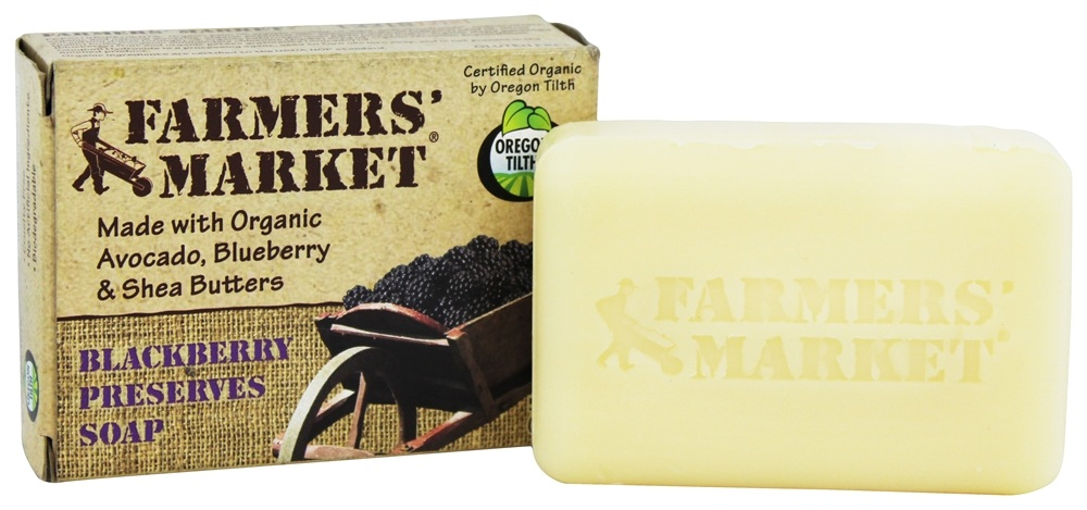 Farmers' Market - Organic Bar Soap Blackberry Preserves - 5.5 oz.