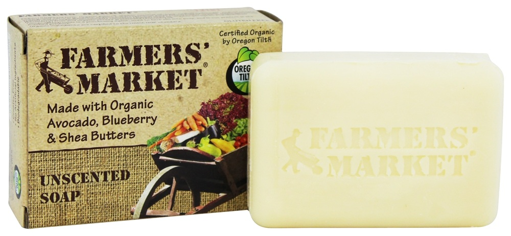 Farmers' Market - Organic Bar Soap Unscented - 5.5 oz.