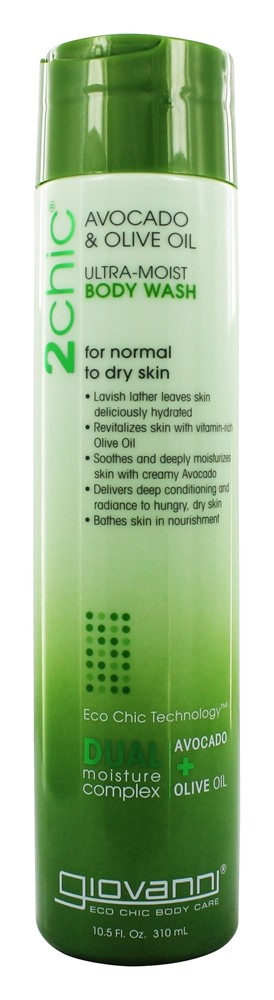 Giovanni - 2Chic Avocado & Olive Oil Ultra-Moist Body Wash For Normal To Dry Skin - 10.5 oz.