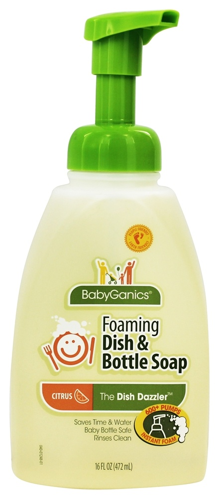 BabyGanics - Foaming Dish & Bottle Soap Citrus - 16 oz.