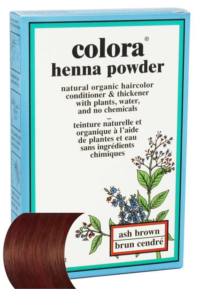 Colora - Henna Powder Natural Organic Hair Color Ash Brown - 2 oz.