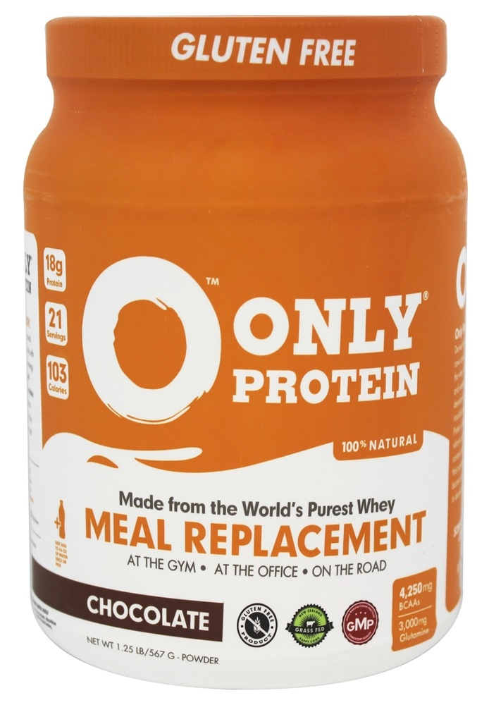 Only Protein - 100% All Natural New Zealand Grass Fed Whey Meal Replacement Chocolate - 1.25 lbs.