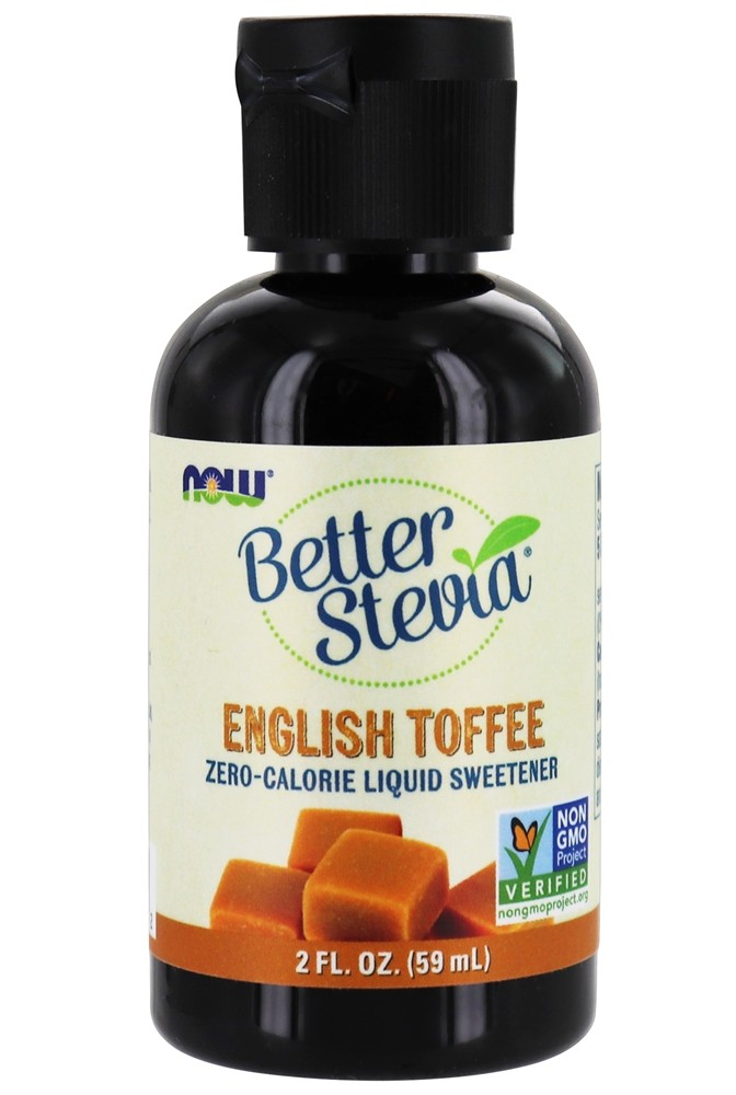 NOW Foods - Better Stevia Liquid Sweetener English Toffee - 2 oz.
