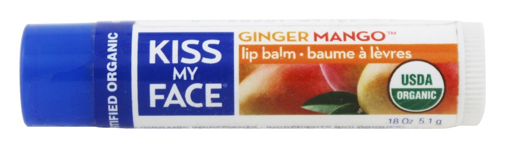 Kiss My Face - Organic Lip Balm Ginger Mango - 0.18 oz.