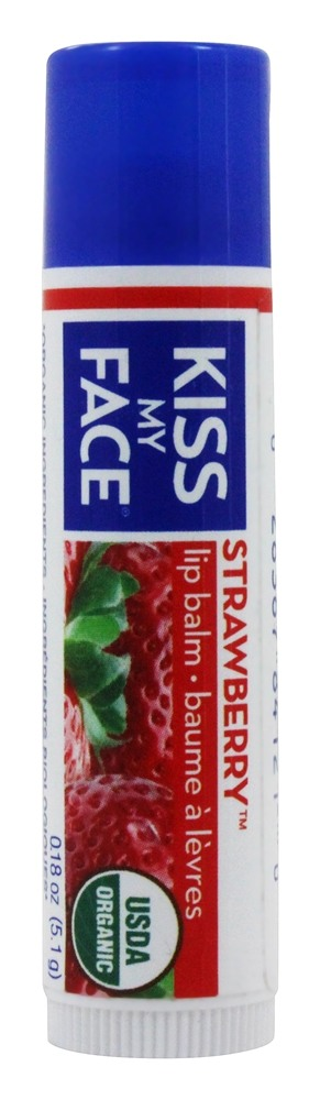 Kiss My Face - Organic Lip Balm Strawberry - 0.18 oz.
