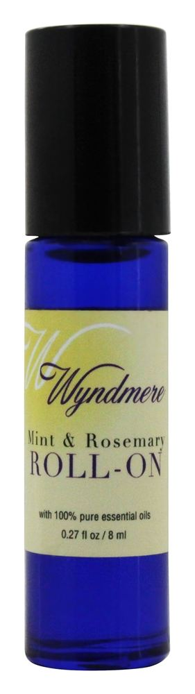 Wyndmere Naturals - Aromatherapy Roll-On Mint & Rosemary - 0.27 oz.