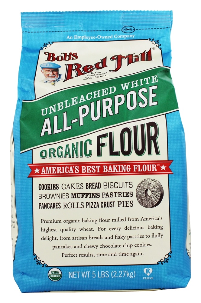 Bob's Red Mill - Organic Unbleached White Flour - 5 lbs.