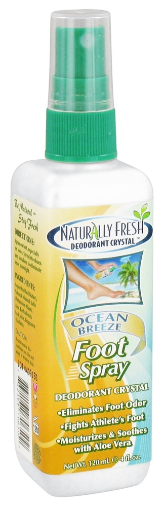 Naturally Fresh - Deodorant Crystal Foot Spray Ocean Breeze - 4 oz.