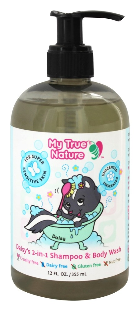My True Nature - Daisy's 2-In-1 Shampoo & Body Wash Unscented - 12 oz.