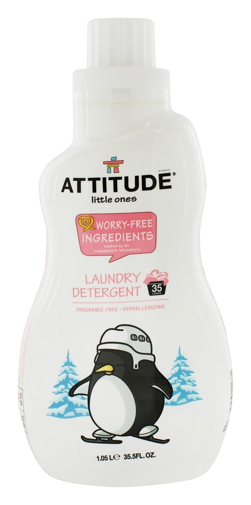 Attitude - Baby Laundry Detergent 35 Loads Fragrance Free - 35.5 oz.