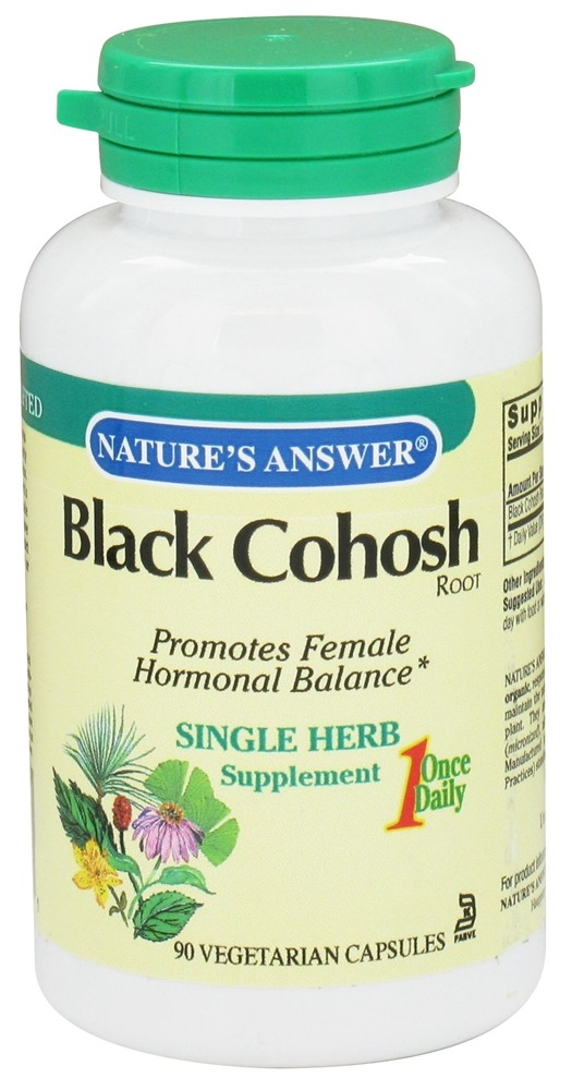 Nature's Answer - Black Cohosh Root Once Daily Single Herb Supplement - 90 Vegetarian Capsules