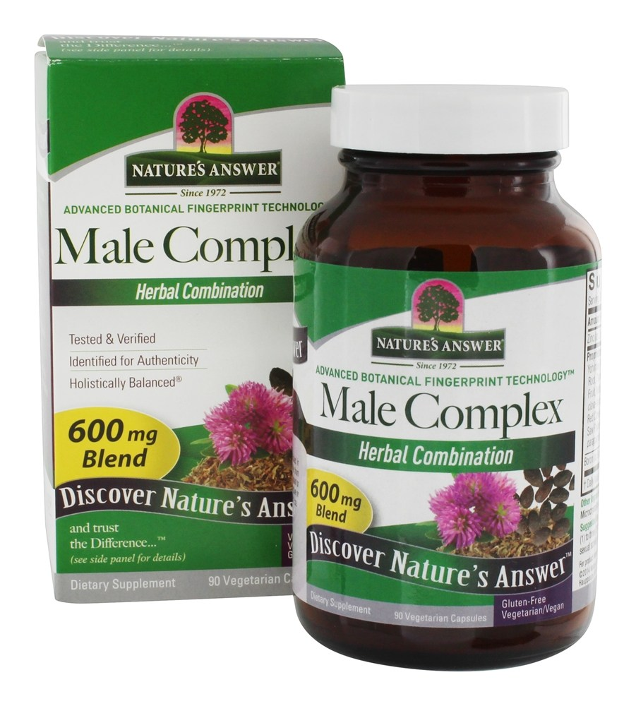 Nature's Answer - Male Complex Herbal Blend Supplement - 90 Vegetarian Capsules