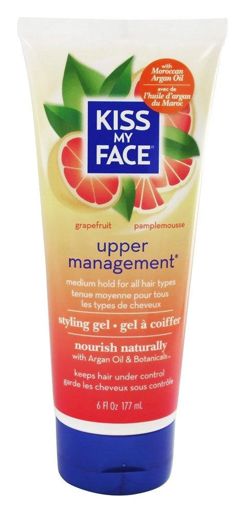 Kiss My Face - Styling Gel Upper Management Medium Hold Grapefruit - 6 oz.