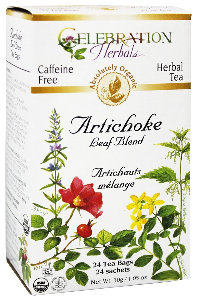 Celebration Herbals - Organic Artichoke Leaf Blend Herbal Tea - 24 Tea Bags