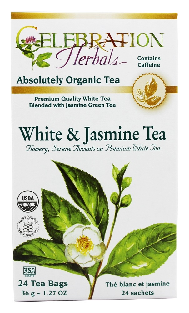 Celebration Herbals - Organic White & Jasmine Herbal Tea - 24 Tea Bags