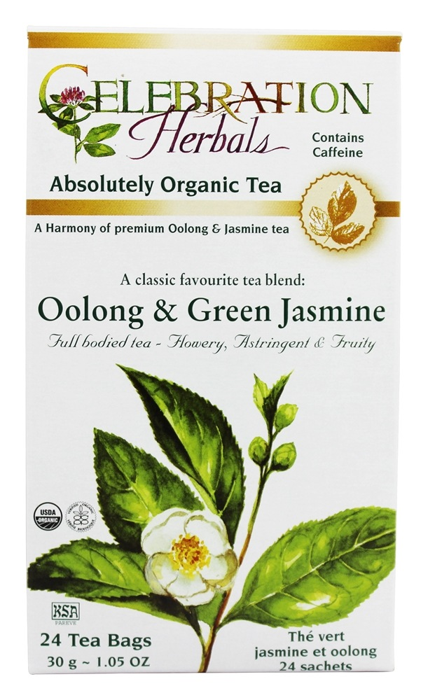 Celebration Herbals - Organic Oolong & Green Jasmine Herbal Tea - 24 Tea Bags