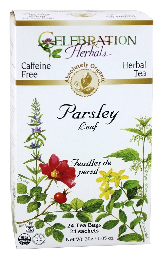 Celebration Herbals - Organic Caffeine Free Parsley Leaf Herbal Tea - 24 Tea Bags