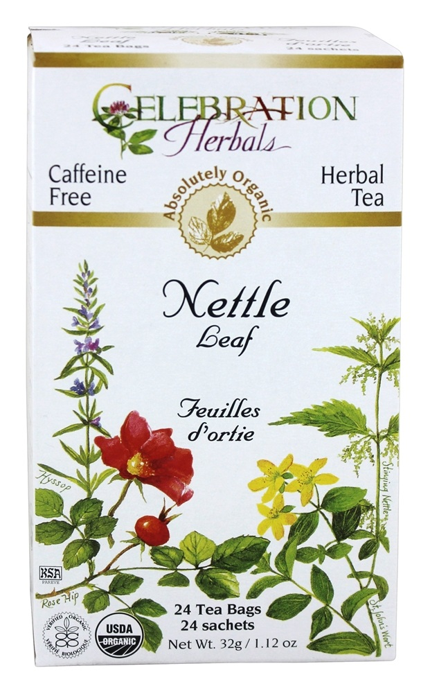 Celebration Herbals - Organic Caffeine Nettle Leaf Herbal Tea - 24 Tea Bags