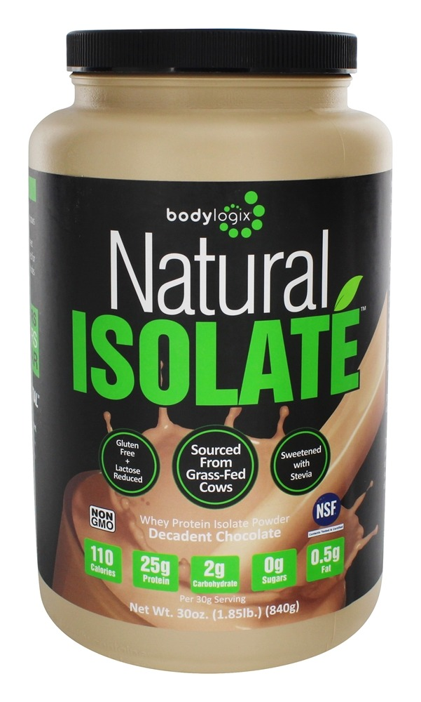Bodylogix - Natural Isolate Whey Protein Natural Dark Chocolate - 1.85 lbs.