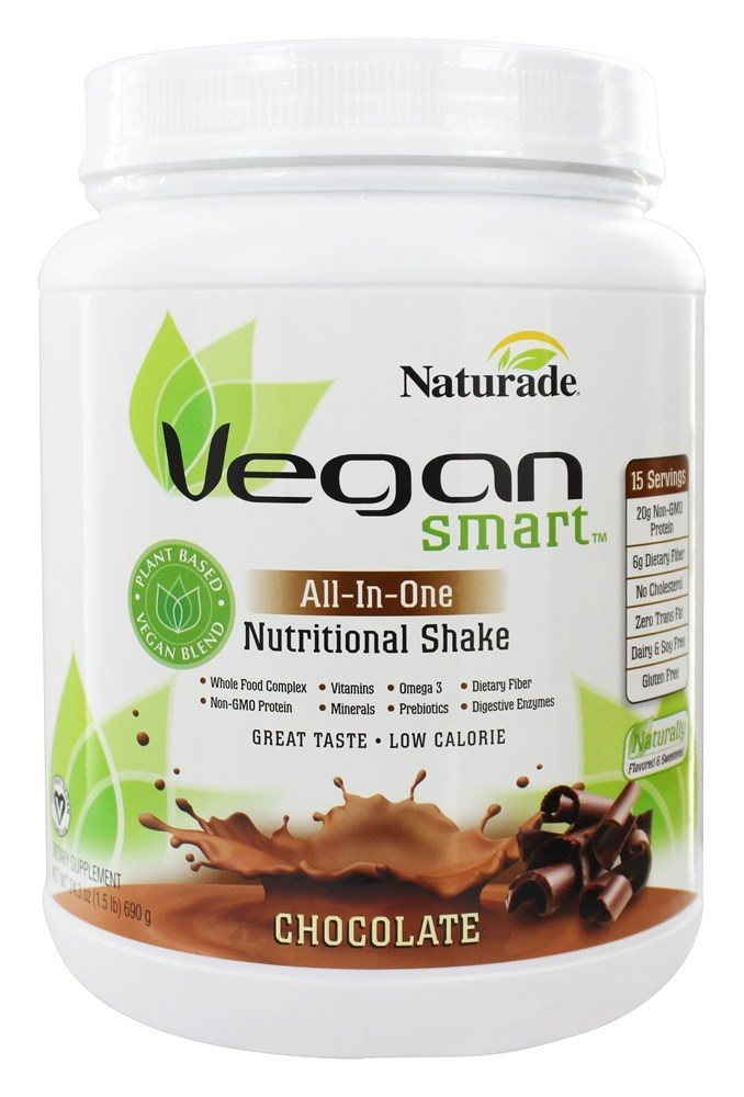 Naturade - VeganSmart All-In-One Nutritional Shake Chocolate - 24.34 oz.