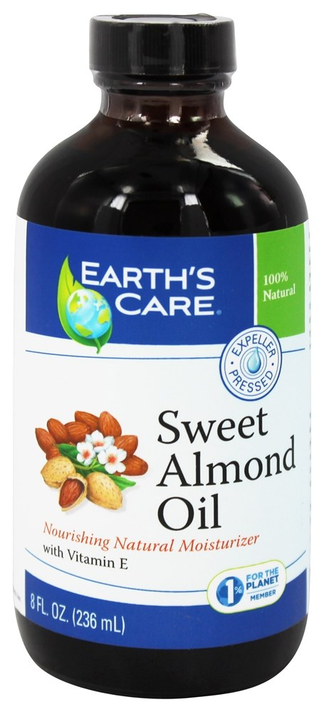 Earth's Care - Sweet Almond Oil Nourishing Natural Moisturizer - 8 oz.