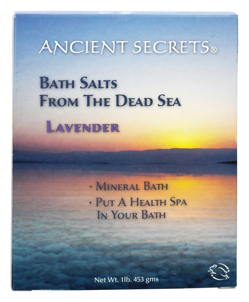 Ancient Secrets - Dead Sea Mineral Bath Salts Lavender - 1 lb.