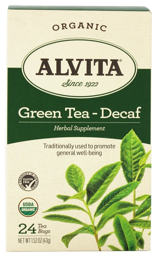 Alvita - Organic Green Tea Decaf - 24 Tea Bags