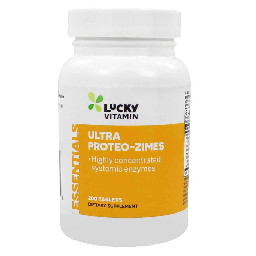 LuckyVitamin - Ultra Proteo-Zimes Highly Concentrated Systemic Enzymes - 200 Enteric-Coated Tablets