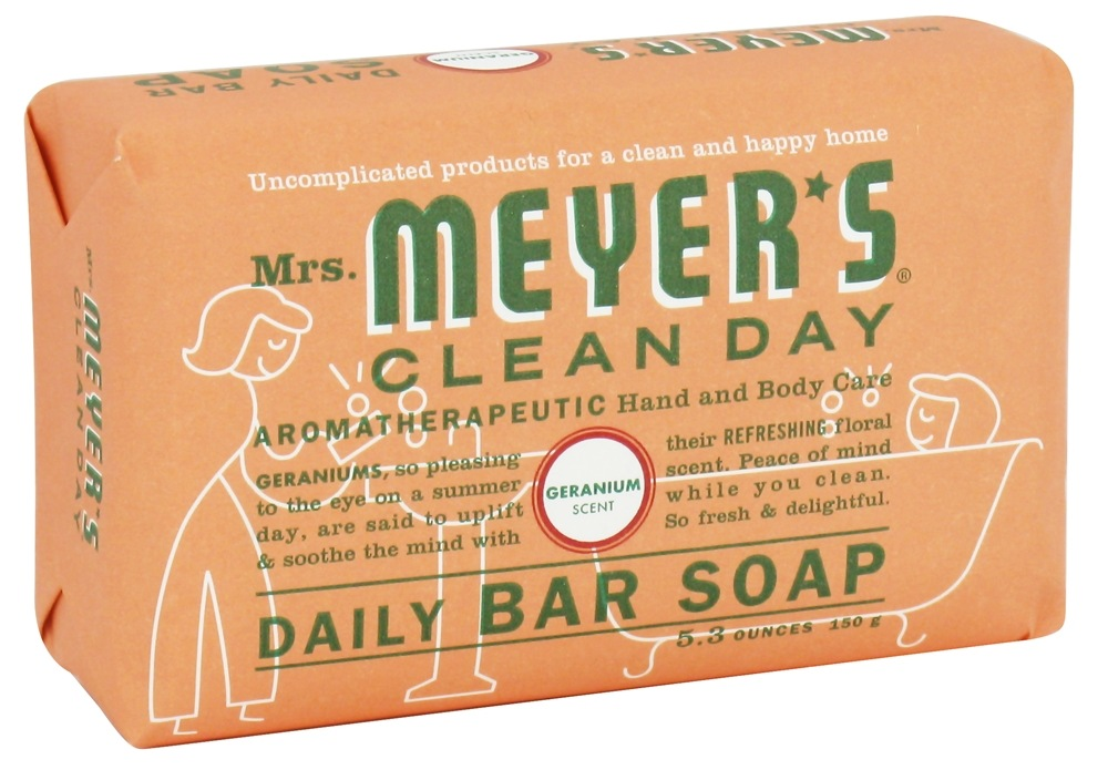 Mrs. Meyer's - Clean Day Daily Bar Soap Geranium - 5.3 oz.