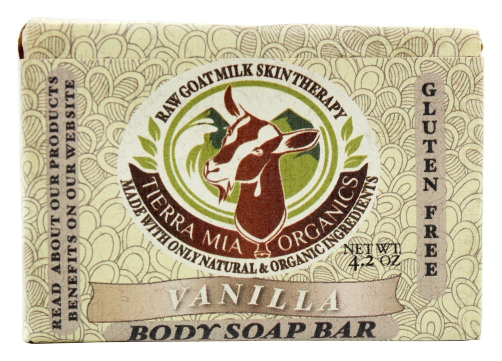 Tierra Mia Organics - Raw Goat Milk Skin Therapy Body Soap Bar Vanilla - 3.8 oz.