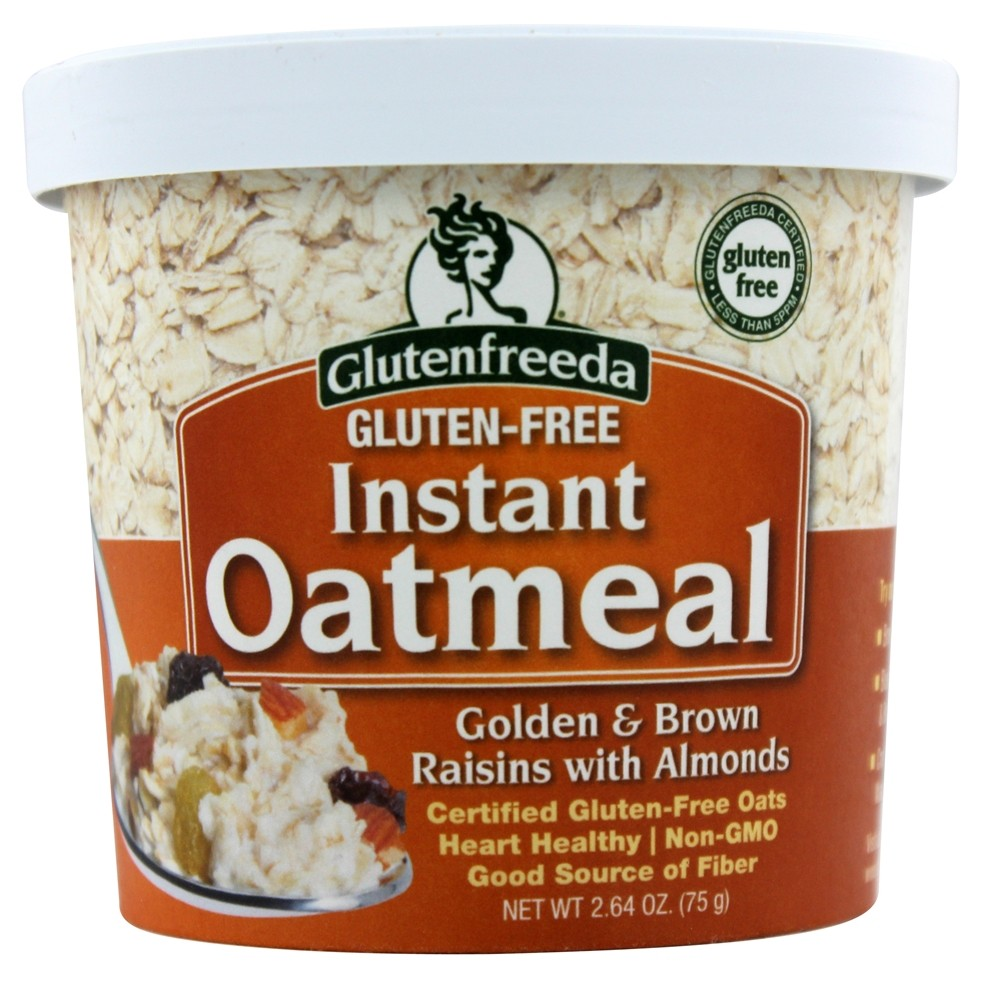 Glutenfreeda - Instant Oatmeal Cup Golden & Brown Raisins with Almonds - 2.64 oz.