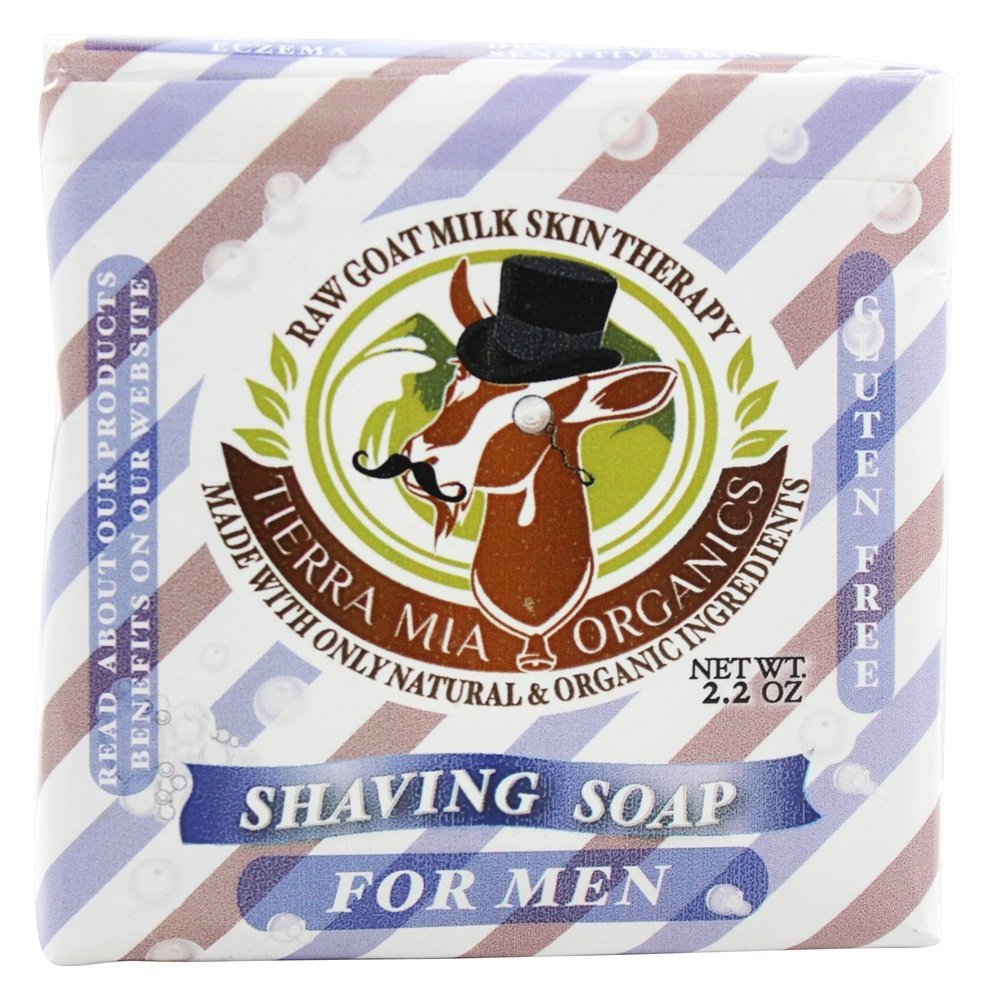 Tierra Mia Organics - Raw Goat Milk Skin Therapy Shaving Soap For Men - 2.2 oz.